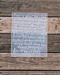 wedding photo - 1 Corinthians 13 Sign love is patient love is kind custom wedding sign quotes on glass love quotes acrylic sign love bible verse