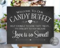 wedding photo - Candy Buffet Sign Chalkboard Printable Wedding Sign Digital Instant Download (#CBU1C)