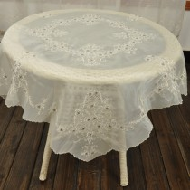 wedding photo - 50%OFF , Shining Beaded Embroidery Tablecloth, Shabby Chic,