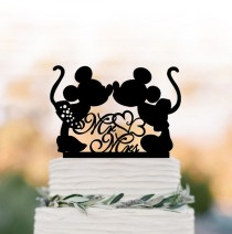 wedding photo - Disney Wedding Cake topper mr and mrs, minnie and mickey wedding cake toppers , funny wedding cake toppers rustic, Birthday cake topper