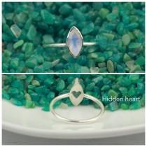 wedding photo - Moonstone Engagement Ring, Rainbow Moonstone Ring, Promise Ring, Christmas Gift