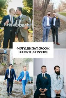 wedding photo - 44 Stylish Gay Groom Outfits That Inspire - Weddingomania