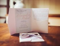 wedding photo - Princess Script Wedding Invitations
