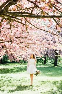 wedding photo - Springtime Cherry Blossom Bridal Shoot In Paris - French Wedding Style