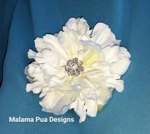 wedding photo - WEDDING HAIR FLOWER, Custom Hair clip, hai accessory, Hawaiian,Tropical Flower, Headpiece, Beach Hair Accessory, Silk Flower, Crystal Center
