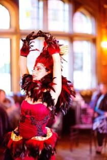 wedding photo - Tassles, corsets, and fans: the burlesque wedding eye candy of your dreams