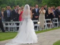 "wedding photo - Wedding veil long cathedral, chapel, long wedding veils 80"",90"" 108"" 120"""