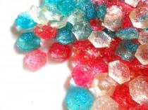 wedding photo - SHIMMER and SHINE Candy, Diamonds, Hot Pink, Bright Blue, Multi Color Gems, Sparkle Glass, Edible Gems,Kids Parties, Sugar Gems,