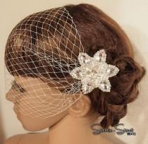 wedding photo - wedding Hair Comb, Bridal Veil, Wedding Veil, Bridal Comb, Face Veil, Birdcage Veil, Blusher veil, Bridal headpiece, wedding Headpiece