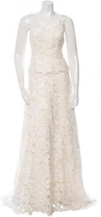wedding photo - Carolina Herrera Two Piece Lace Wedding Dress