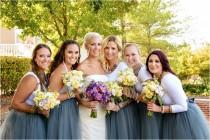 wedding photo - Charcoal grey/gray bridesmaids tulle skirt Tea Length or Floor Length Maxi