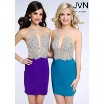 d935df1c256 JVN by Jovani JVN99396 Beaded Halter Dress - 2016 Spring Trends Dresses