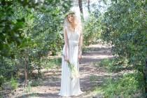 wedding photo - Bride in a hurry, off white wedding dress, rustic bridal gown, woodland wedding dress, ready to ship simple wedding dress, ivory bridal gown