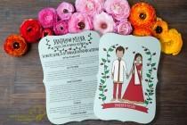wedding photo - Indian Wedding Program: Boho Indian (Printable) -- Hindu Wedding Muslim Nikah Explanation, Traditional, Order of Service