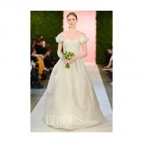 wedding photo - Oscar de la Renta - Spring 2015 - Off-the-Shoulder Silk Ball Gown Wedding Dress - Stunning Cheap Wedding Dresses