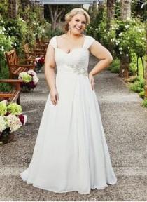 wedding photo - A-Line/Princess Sweetheart Court Train Chiffon Wedding Dress With Ruffle Beading