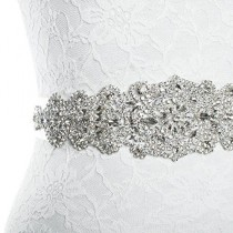 wedding photo - Rhinestone Wedding Dress Applique Patch for Bridal Sash