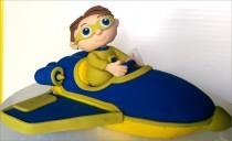 "wedding photo - Super Why Fondant Cake Topper. Ready to ship in 3-5 business days. ""We do custom orders"""