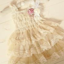 wedding photo - Mauve Flower Girl Dresses, Country Flower Girl Dress, Rustic Flower Girl Dress, Lace Flower Girl Dresses, Rustic Wedding, Sash, Girls Dress