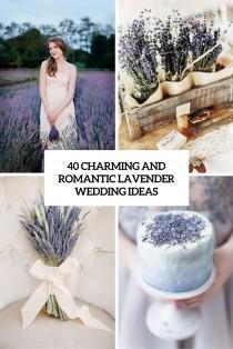 wedding photo - 40 Charming And Romantic Lavender Wedding Ideas - Weddingomania