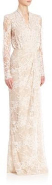 wedding photo - Alexander McQueen Floor Sweeping Lace Gown