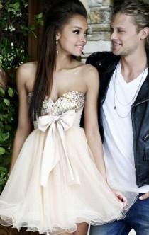wedding photo - 2015 Simple Short As Picture Tailor Made Cocktail Prom Dress (LFNBF0008) cheap online-MarieProm UK