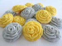 wedding photo - Wedding Candy Favor Edible Sugar Flower Fondant Rose Cupcake Cake Topper Gumpaste Baby Bridal Shower Decor Baptism Christening - set 50