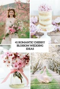wedding photo - 41 Romantic Cherry Blossom Wedding Ideas - Weddingomania
