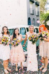 wedding photo - Fun Boho Beach Wedding In Australia - Weddingomania