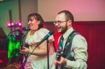 "wedding photo - Why dance when you can have a ""first Rock Band song?"""