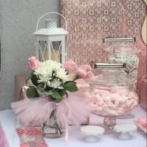 wedding photo - Mason jar,Candy Dish Tutu,Ballerina Party Decoration,princess Party Centerpiece,baby shower,tutu table