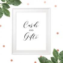 wedding photo -  Wedding Cards and Gifts Sign-Printable Calligraphy Bar Sign-Rustic Wedding Decor-DIY Wedding Reception Sign