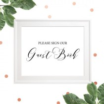 wedding photo -  Sign our Guest Book Sing-Printable Wedding Guest Book Sign-Rustic Wedding Decor-DIY Wedding Reception Sign-Calligraphy Wedding Sign