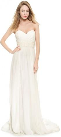 wedding photo - Marchesa Grecian Strapless Sweetheart Gown