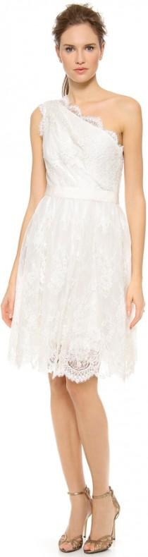 wedding photo - Marchesa Embroidered Lace Dress