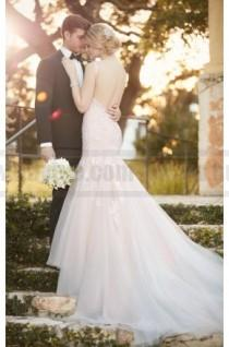 wedding photo - Essense Of Australia Fit And Flare Wedding Dress With Low-Cut Back Style D2147