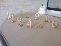 wedding photo - GOLD table numbers Silver table numbers Glitter numbers wedding DIY table numbers wedding do it your self