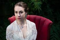 wedding photo - Silk Crepe Wedding Gown