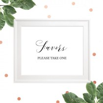 wedding photo -  Wedding Favors Sign-Please Take One Favor Sign-Delicate Calligraphy Style-Wedding Reception Sign-Rustic Wedding-DIY Printable Table Decor
