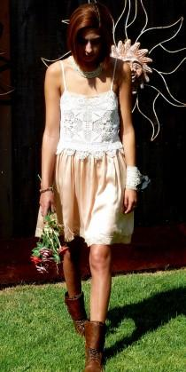 wedding photo - REDUCED, Altered Party Dress, Bridal Wear, OOAK Design, Altered Couture