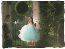 wedding photo - Mint Flower Girl Dress, Mint tutu dress, Mint dress, Mint wedding, Ivory flower girl dress, Ivory tutu dress, Ivory dress, Ivory wedding