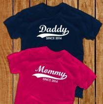 wedding photo - daddy shirt mommy shirt pregnant new dad gift papa shirt maternity shirts pregnancy shirt papa gift christmas gift