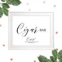 wedding photo -  Wedding Cigar Bar Printable Sign-Cigars-Rustic Wedding Sign-Custom Cigar Bar Sign, Calligraphy Style, DIY Wedding Sign, Elegant Wedding,