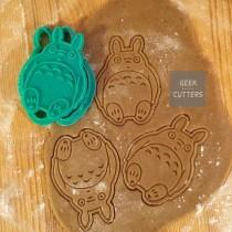 wedding photo - Totoro Cookie Cutter 3d printed, Baking Mold, Kawaii, Disney Kid 's, Studio Ghibli Anime Cake Stencil Party supplies Fondant
