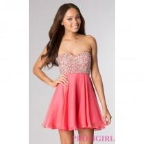 wedding photo - Short Strapless Sweetheart Dress by Alyce - Discount Evening Dresses