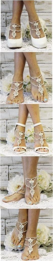 wedding photo - PRINCESS Wedding Barefoot Sandals