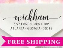 wedding photo - Address Stamp - Christmas Gift - Holiday Card Envelope - Self inking Return Address Stamp - 4573
