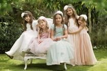 "wedding photo - Cream Flower Girl Dress with Tulle Skirt -- The ""Sarah"" in Cream"