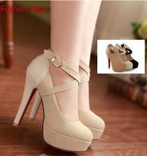 wedding photo - Criss Cross High Heel Pump Shoes