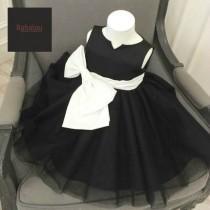 wedding photo - Flower girl dress, Black dress, Party Dress, girls pageant dress, tulle flower girl dress, new flower girl dress,junior bridesmaid dress